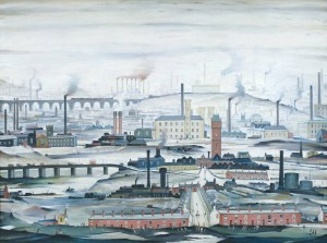 Industrial Landscape (1955) by L. S. Lowry