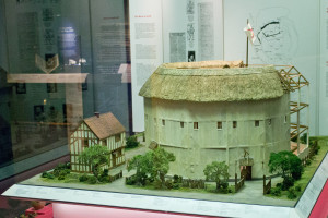 A model of the Rose Theatre, the first to build on Bankside