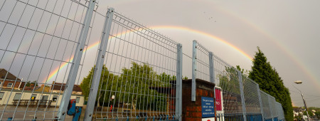 An amazing double rainbow, both primary and secondary arches complete