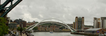 The Millennium Bridge lifting
