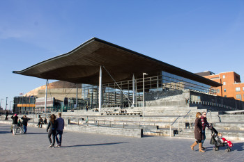 Welsh Assembly building, seat of Welsh government