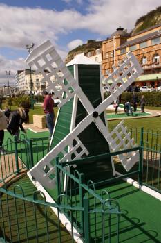 A proper crazy golf course should have a windmill