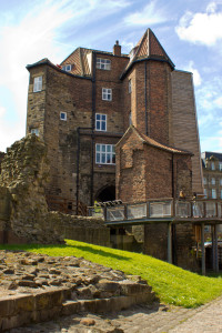 The castle barbican, much altered
