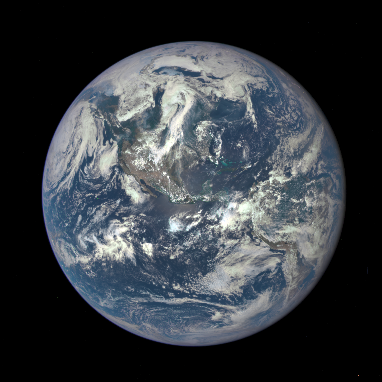 Earth as captured by NASA's Earth Polychromatic Imaging Camera