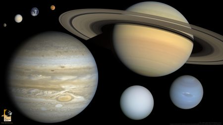 The eight planets to scale
