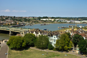 Looking over Medway
