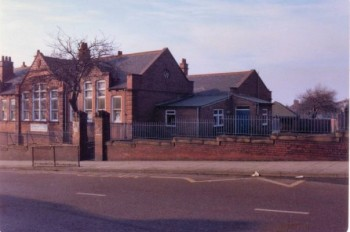 An undated view of the infants, seen from Whitehall Road