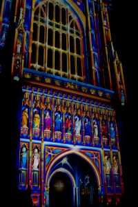 Lumiere festival, at Westminster Abbey