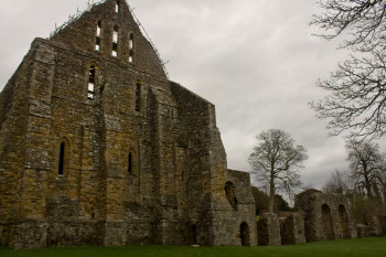 The abbey fell to decay