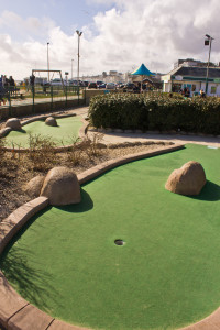 Part of the adventure golf course