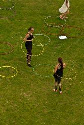Hula hoop experts doing their stuff