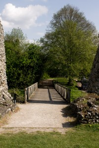 The bridge into the castle