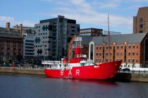 An unusual lighthouse ship, now a bar