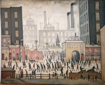 Coming Home From The Mill by L. S. Lowry