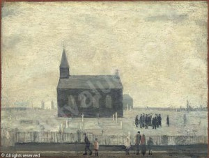 The Funeral by L. S. Lowry (1928)