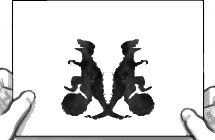 One of the inkblots from the Google Doodle