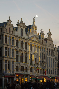 The Moon over Grand Place