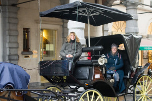 We had to go back so Heather could have her photo taken in the horse and carriage we'd been in