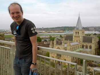 Ian with cathedral background