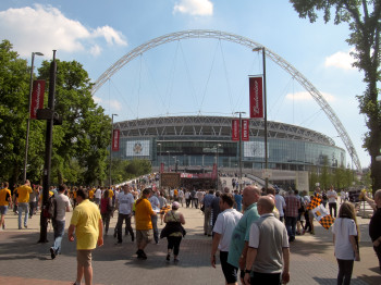 The approach to Wembley