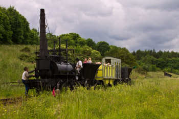 Readying Steam Elephant for the return run