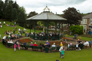 This once stood in Saltwell Park, and today hosts brass bands at Beamish