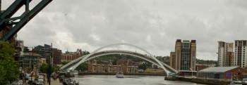 The Millennium Bridge lifting