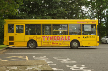 The AD122 bus which carried us between Hadrian's Wall sites