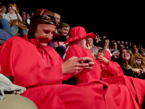 The Spanish Inquisition sat behind us