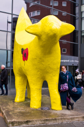 Superlambanana is leant on by Heather