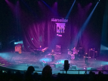 Starsailor play towards the end of their warm up slot