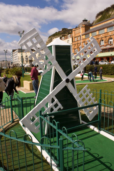 A proper crazy golf course should have a windmill