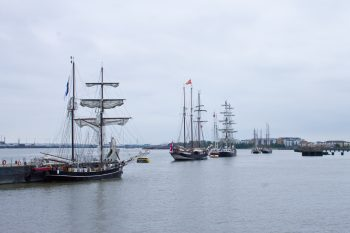 The tall ships which were on display