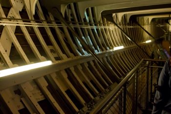 The iron frame of Cutty Sark