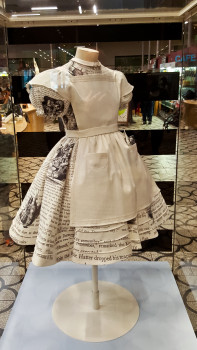 Dress designed for the Alice look exhibition. I liked the text extracts on it