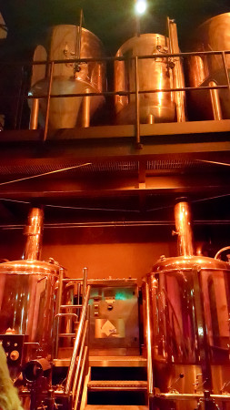 Brewing equipment at the Old Brewery, Greenwich