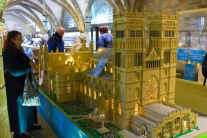 The Lego cathedral taking shape