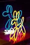 Neon dogs at Lumiere