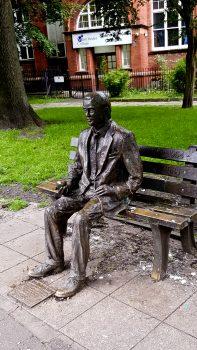 Memorial sculpture to Alan Turing