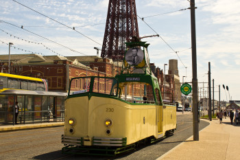 One of the vintage trams on show