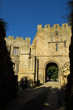 The barbican entrance to the castle